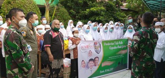 FORWAN GANDENG TNI AU BAKSOS 3 PANTI ASUHAN.